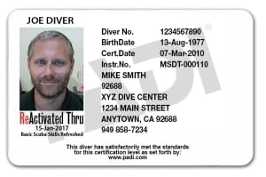 ReActivate Scuba Card