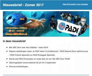 Nieuwsbrief Zomer 2017
